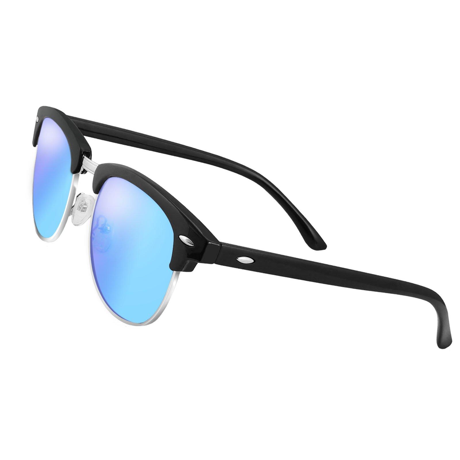 LIVHO G|Semi Rimless Polarized Sunglasses Women Men Retro Brand Sunglasses Goggles UV400