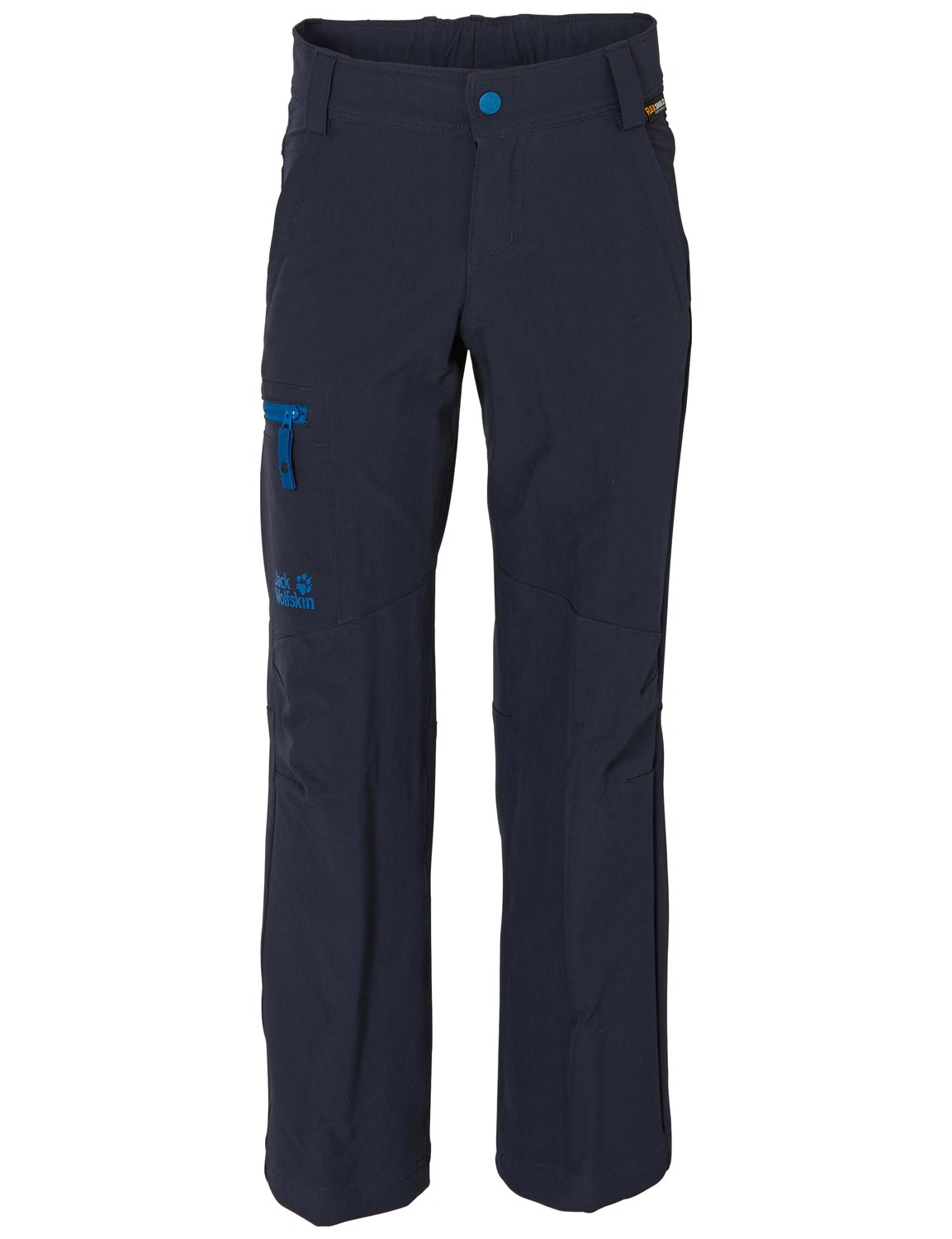 Jack Wolfskin Boy's Activate II Soft Shell Pant, Night Blue, 152