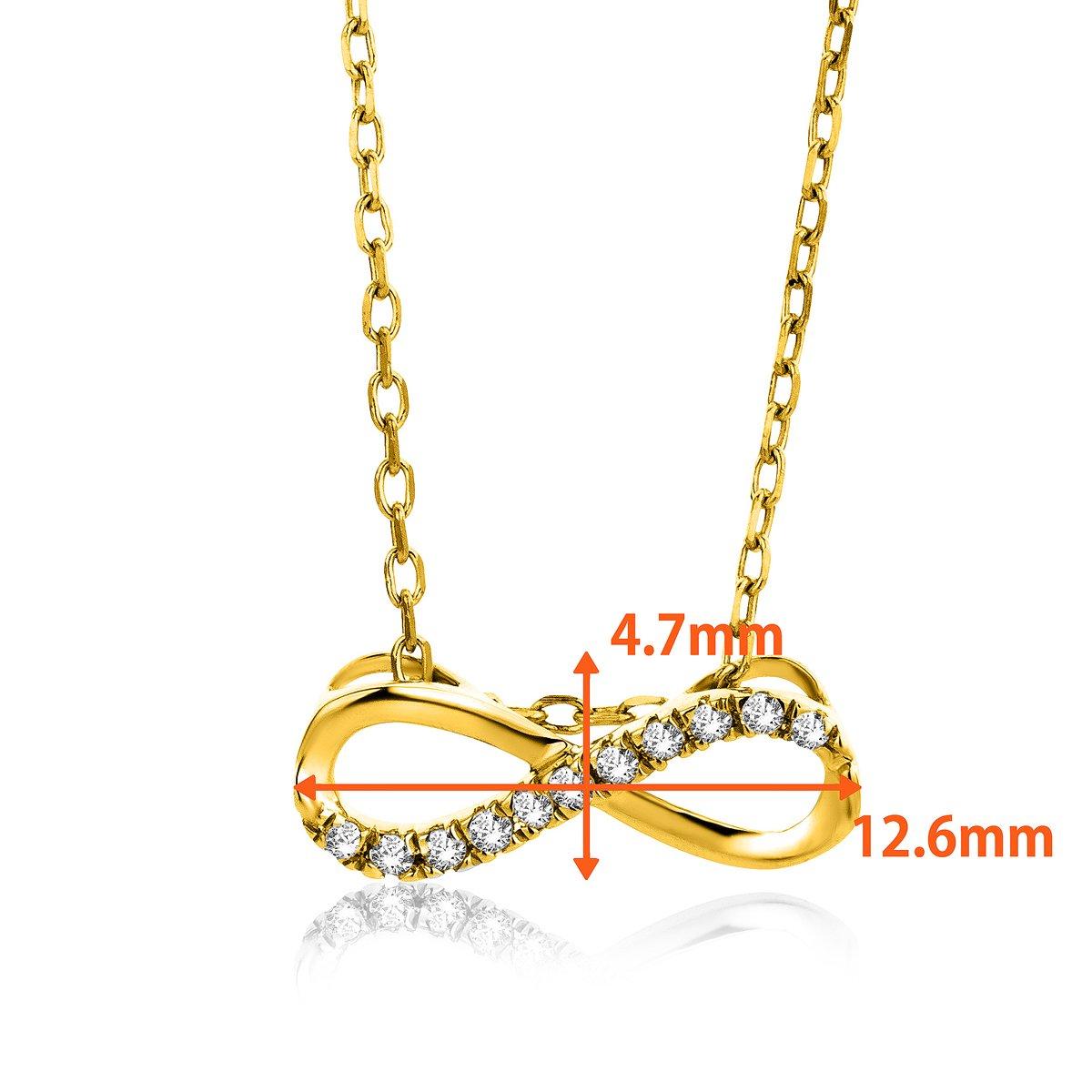 da6474158485 orovi Cadena para Mujer Joyas oro amarillo 9 quilates 375 oro collar  infinito infinity colgante con diamante brillantes 0