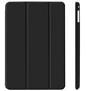 iPad Mini 4 Funda, JETech® Slim Fit Apple iPad Mini 4 Funda Carcasa con Stand Función y Auto-Sueño/Estela para Apple iPad Mini 4 Lanzado en 2015 Smart Case Cover (Negro)