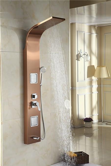 ZHGI Mampara de ducha libre de huellas digitales 304 acero ...