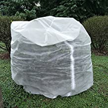 UniEco Cubic H 146''xL 130''xW 54'' Plant Cover Plant Protection Cover with Zipper for Protection from Small Insects and Season Extension
