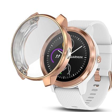 iHYQ Screen Protector Case for Garmin Vivoactive 3 Music,Unti-Shock TPU Full Cover Protector for Garmin Vivoactive 3 Music Smartwatch ...