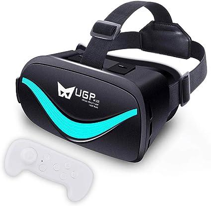 2019最新3DVRゴーグルハンドヘルドリモコン赠る(white)VRヘッドセットアニメーションゲーム映画画像效果VRメガネ4.5-6.0インチのiPhoneandroidその他のスマートフォンに対応日本語説明書付き