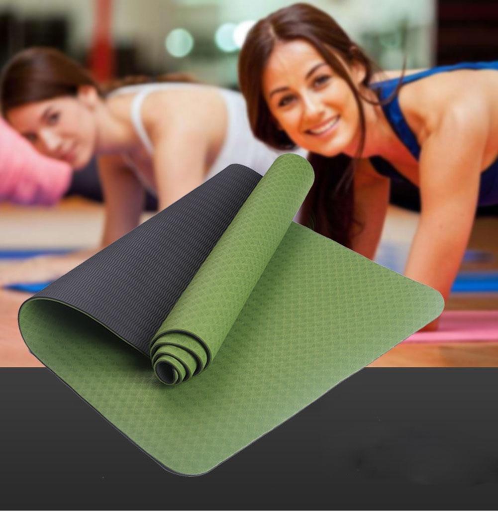 HZJ Grün Natural Eco Gesundheit Und Fitness Comfort Rubber Optimale Yoga Mat Non Slip FüR Bewegung Und Pilates Frauen Sicheres Workout Perfect