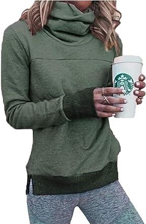 Women/'s Winter Hoodie COWL NECK SWEATSHIRT DRESS Pullovers JUMPER Coat Shirt NEW