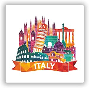 Italy Skyline Vinyl Sticker Decal Laptop Car Bumper Sticker Travel Luggage Car iPad Sign Fun 5""
