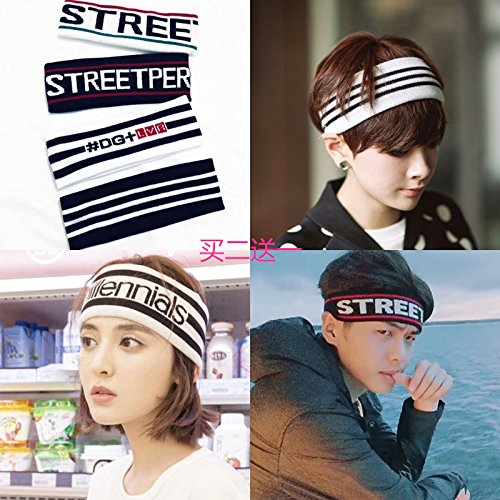 Price comparison product image Korean version of the fall and winter knitting wool simple men and women sports yoga headband sweat wash scarf hair accessories hair bands headwear for women girl lady