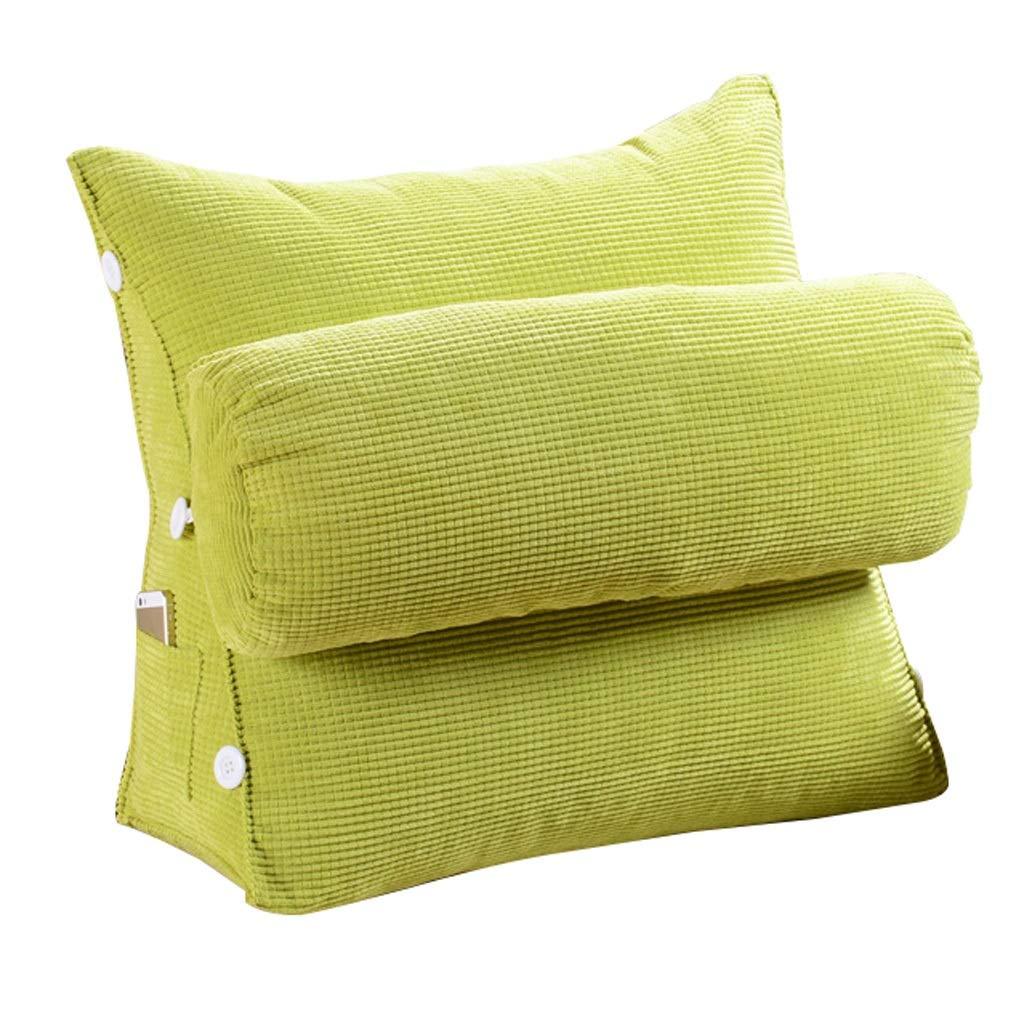 Unbekannt Dreieckauflage Rückenlehnenauflage Samtkissen Schlafsofa Bürostuhlruhe Kissen (Farbe : Grün, größe : L)