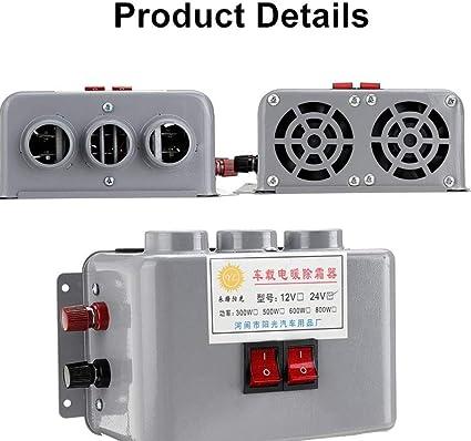 Alta potencia 800 W 24 V ventilador de calefacción de coche camión ...