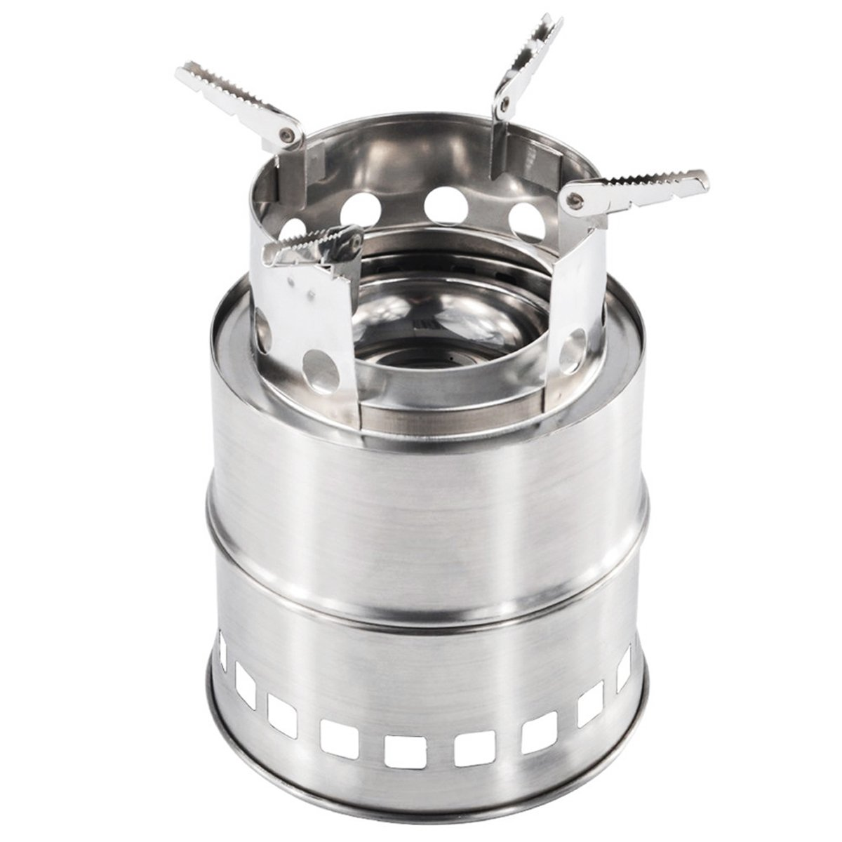 XUELIEE Portable Collapsible Stainless Steel Wood Burning Camping Stove Outdoor Backpacking Camping Stoves