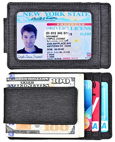 (Money Clip Front Pocket Wallet Waterproof RFID Blocking Strong Magnet thin Wallet)