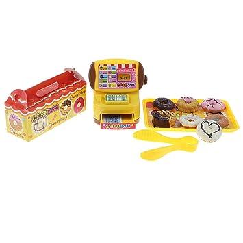 B Blesiya Juguete de Donuts y Caja Registradora de Simualción Juego de Pretender para Niños Bebés: Amazon.es: Juguetes y juegos