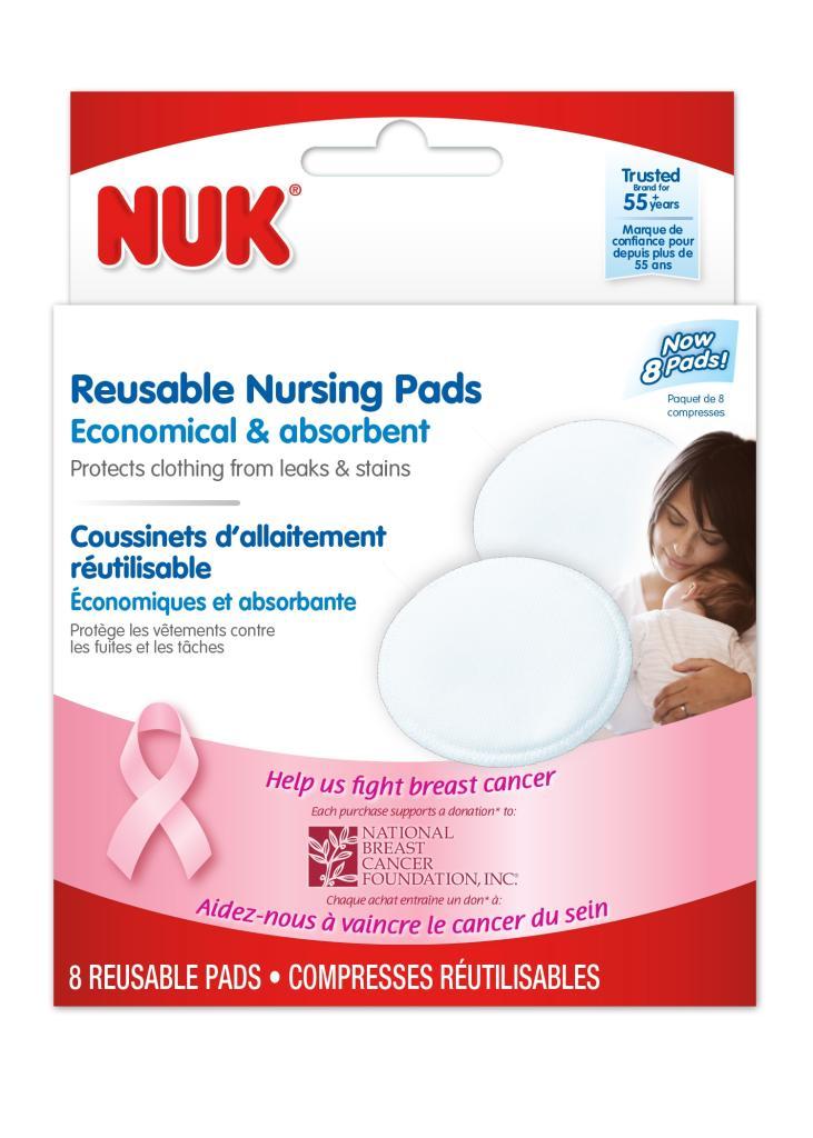 Amazon.com : NUK Reusable Nursing Pads, 8 Count : Nursing ...