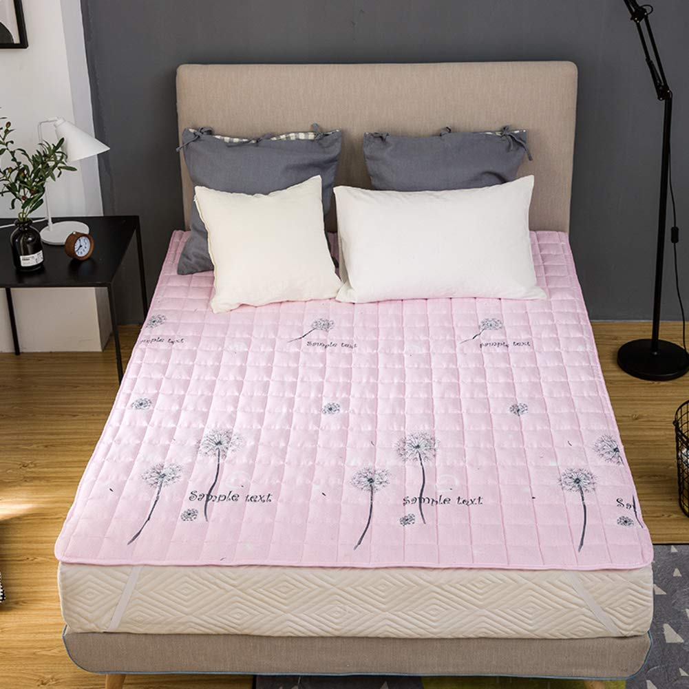 SL&CL Water wash Cotton Padded Tatami Mattress,1.2 Student Dormitory Portable Quilted Thin Skid Bed pad Mattress Ultra-Soft Shrink Mattress-A 150x200cm(59x79inch)