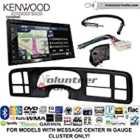 Volunteer Audio Kenwood Excelon DNX694S Double Din Radio Install Kit with GPS Navigation System Android Auto Apple CarPlay Fits 1999-2002 Silverado, 1999-2002 Tahoe, 1999-2002 Yukon