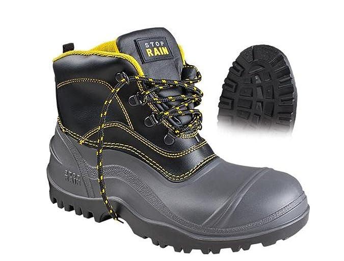 Stop Rain - Bota negra s5 - botas de seguridad: Amazon.es: Zapatos y complementos