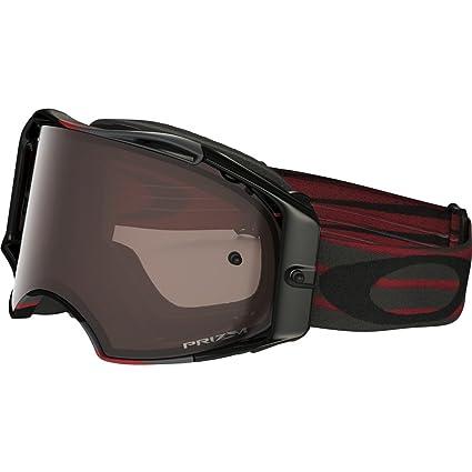 1cb081669d Amazon.com  Oakley Airbrake MX Adult Off-Road Motorcycle Goggles Eyewear -  Nemesis Red Gunmetal Prizm MX Black One Size Fits All  Automotive