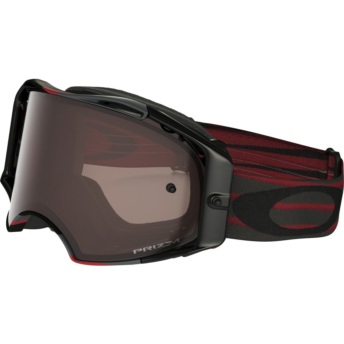 Oakley Airbrake MX Adult Off-Road Motorcycle Goggles Eyewear - Nemesis Red Gunmetal/Prizm MX Black/One Size Fits All