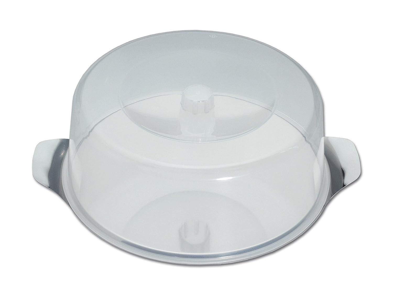 chg 14021-07 Kuchen- und Frischhalteplatte aus Edelstahl-rostfrei mit bruchfester Haube, 11 cm hoch