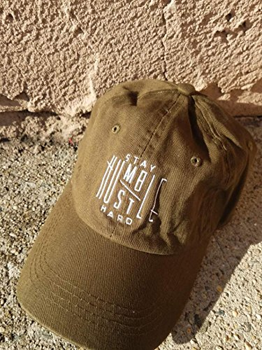 TheMonsta Humble Stay Hard Logo Style Dad Hat Washed Cotton Polo Baseball  Cap (Olive) 6082cd40e175