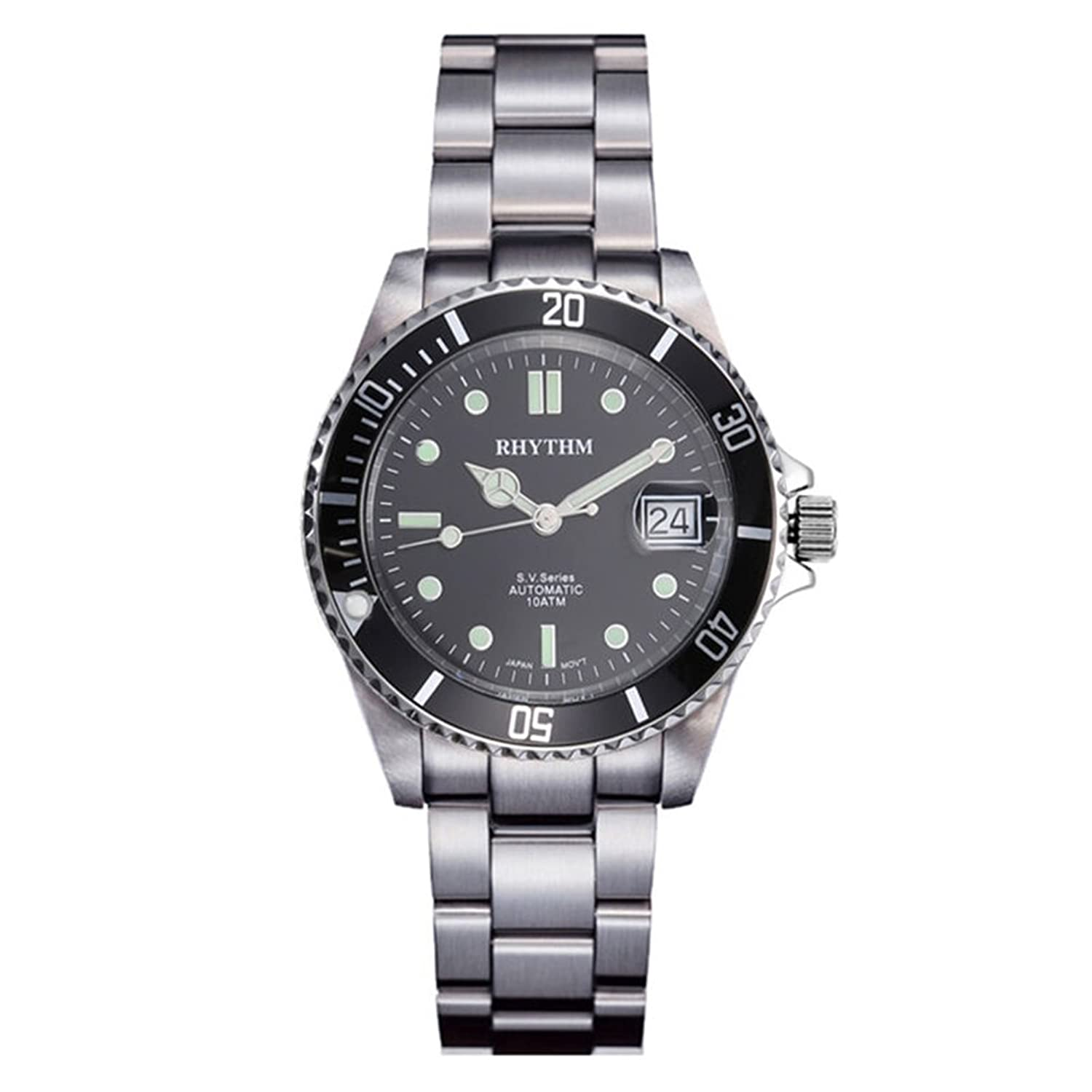 Amazon.com: RHYTHM Japanese Automatic Watch Waterproof and Casual ...