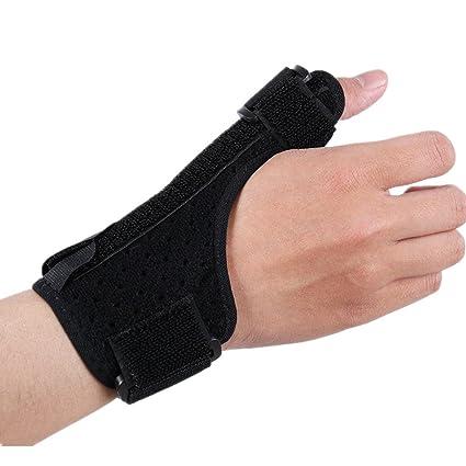 Maybesky Deportes Muñequera Esguince Articular Fractura Muñeca Guardia Pulgar Soporte Ajustable Hombres y Mujeres Artritis y