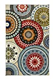 lovely patio stair design ideas Mohawk Home Aurora Suzani Blue Vintage Printed Area Rug, 7'6x10', Multicolor