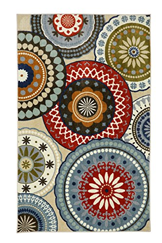 Mohawk Home Aurora Suzani Blue Vintage Rug, 8'x10'- Family Room Ideas - Make quick & easy changes to any room in your home in minutes by changing the rug - add color & patterns