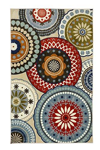 - Mohawk Home Aurora Suzani Blue Vintage Printed Area Rug, 7'6x10', Multicolor