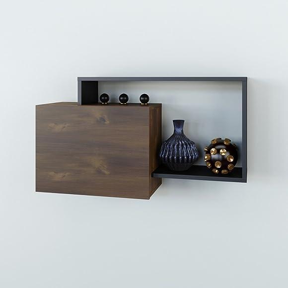 Nexera , Truffle and Black Paisley Wall Shelf,