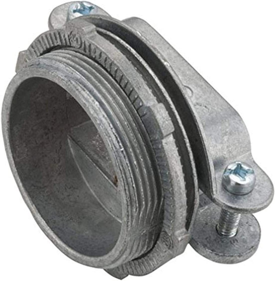 Hubbell-Raco 4761B5 Nm 2-Piece Clamp Connector 5-Pack 3//8-Inch