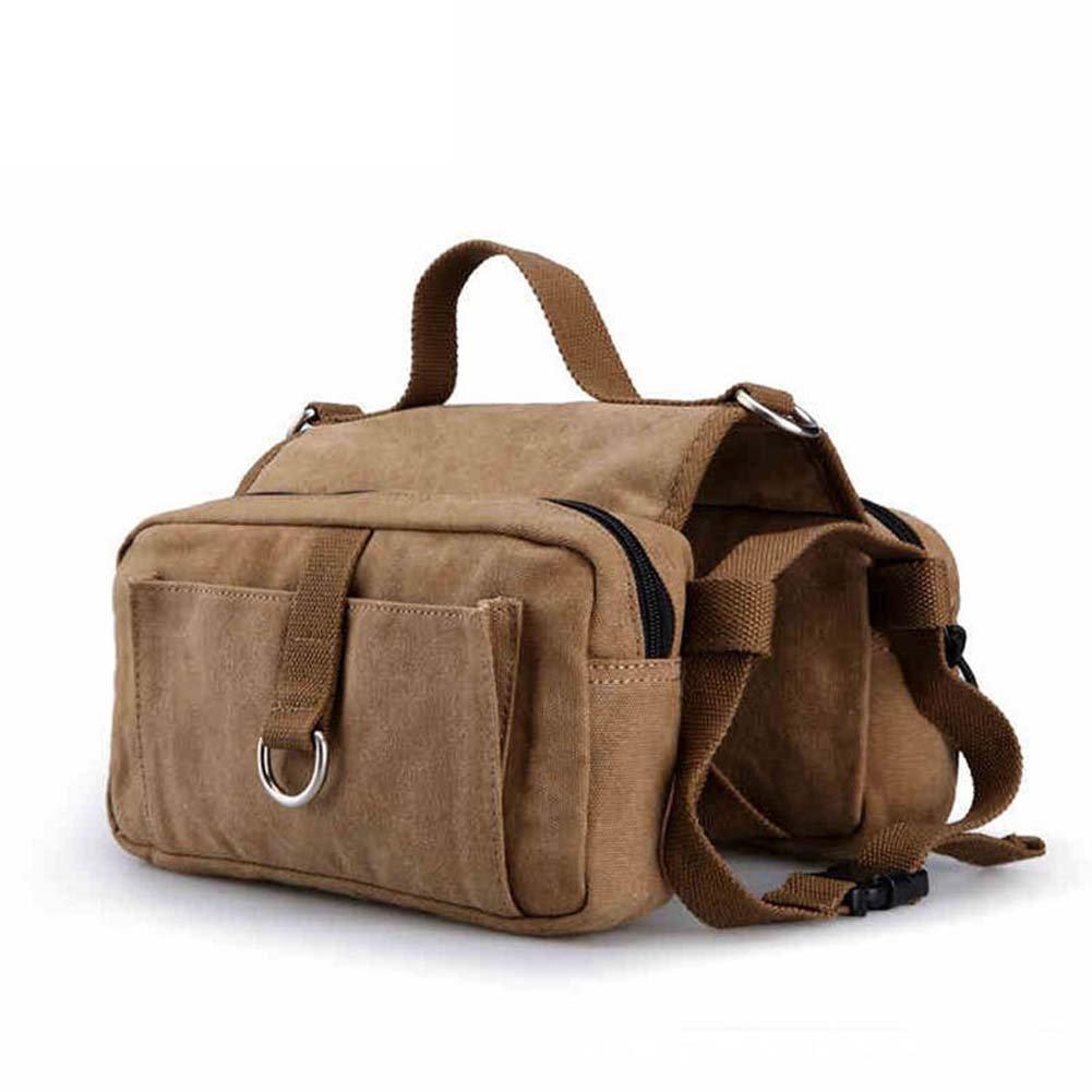 RUIYI Pet Outdoor Sports Bag Dog Saddle Bag Dog Khaki Adjustable Pack for Hiking Camping Traveling