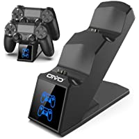 PS4 Controller Charger, PS4 Charger USB Charging Dock Station for Dualshock 4, Upgraded Fast-Charging Port for…