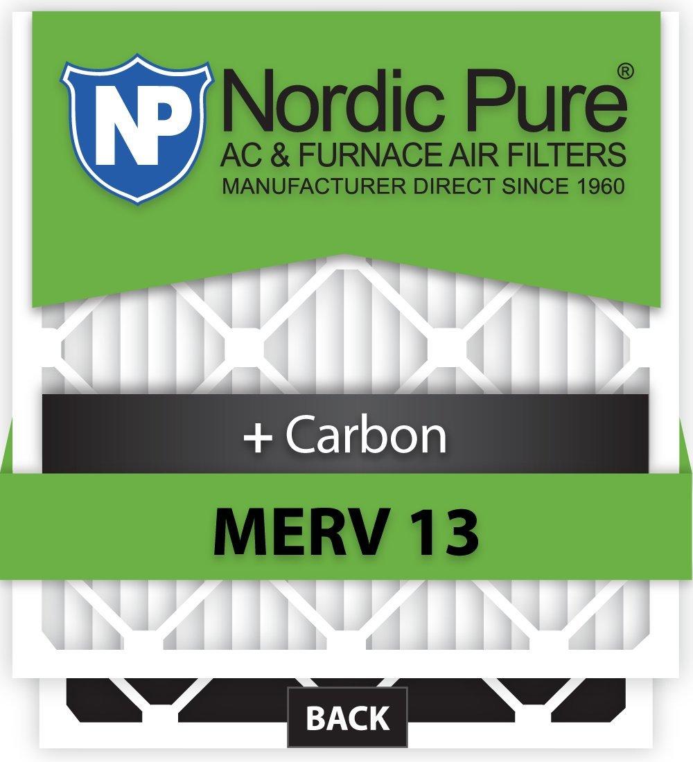 Nordic Pure 14x25x1M13+C-6 MERV 13 Plus Carbon AC Furnace Air Filters, Qty-6 [並行輸入品]   B06XF171F4