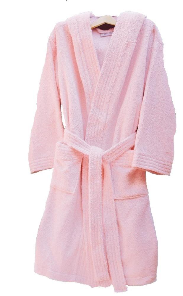 Home Basic Kids - Albornoz con capucha para niños de 12 años, color rosa: Amazon.es: Hogar