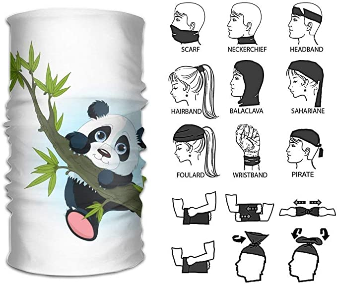 Magic Headwear Panda Bears Outdoor Scarf Headbands Bandana Mask Neck Gaiter Head Wrap Mask Sweatband