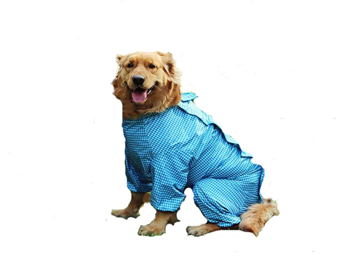 bluee 20  bluee 20  Dog Raincoat, Medium, Large Dog, Pet Waterproof Suit (color   bluee, Size   20 )