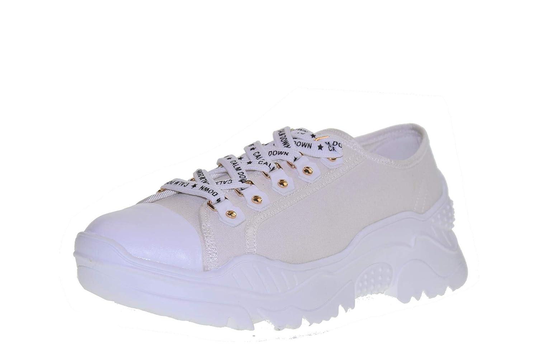 Gold&Gold Schuhe Frau niedrige Turnschuhe GT728 Weiß