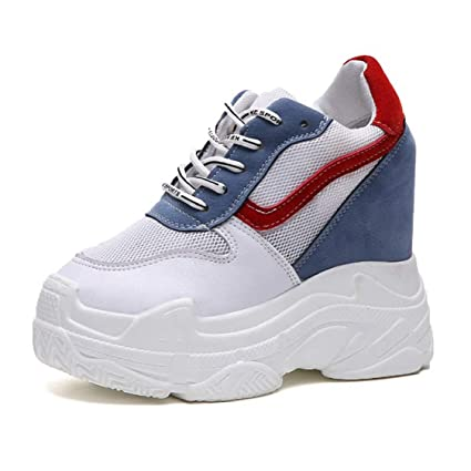 401295d2e5f98 Amazon.com: DOSOMI Women Wedges Sneakers Mesh Platform Trainers ...
