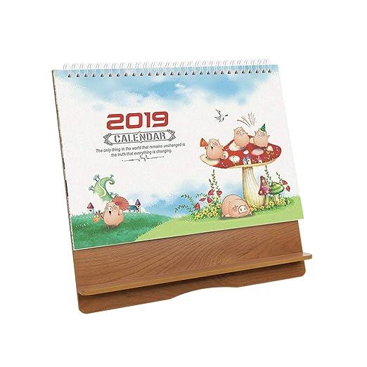 2019 Calendarios de Madera Calendarios de Mesa de Bricolaje ...