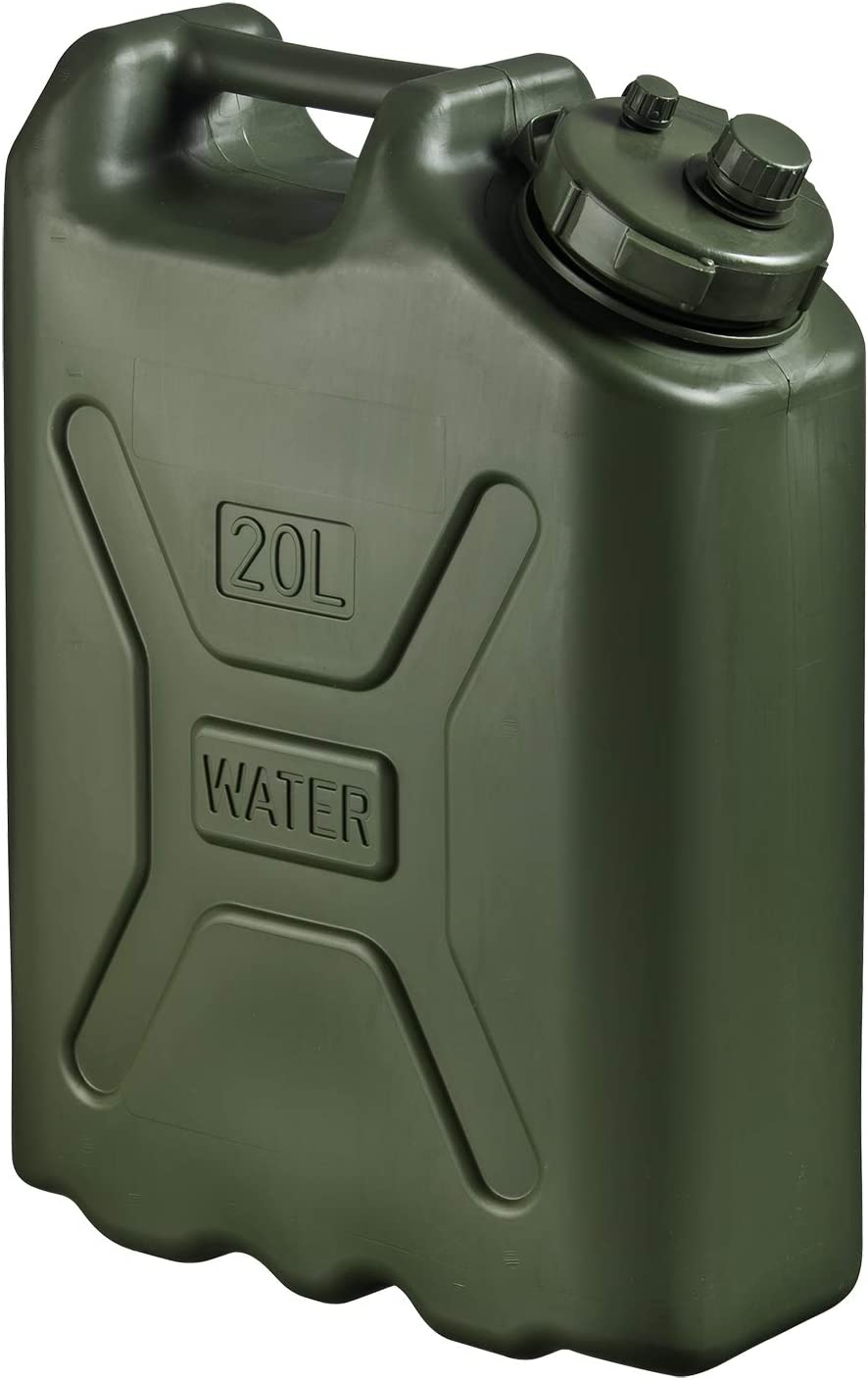 Scepter 5 Gallon True Military BPA Free Water Container, Food Grade Water Jug for Camping and Emergency Storage, Green