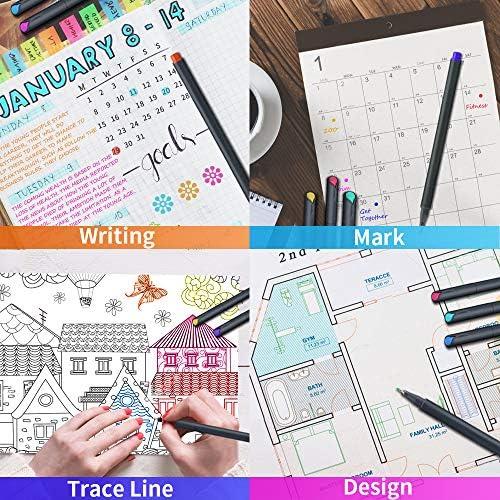 MyLifeUNIT Fineliner Color Pen Set, 0.4mm Colored Fine Liner Sketch Drawing Pen, Pack of 10 Assorted Colors 7
