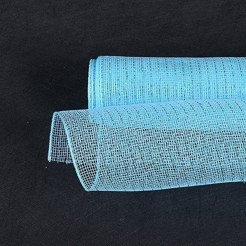 Fabric Deco Tape - Fuzzy Fabric 10 inch x 10 yards (30 feet) Light Blue Deco Poly Mesh Wrap Metallic Gifts for Home Decor