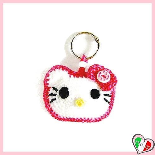 Pink Hello Kitty Häkeln Schlüsselanhänger Aus Baumwolle Und Acryl