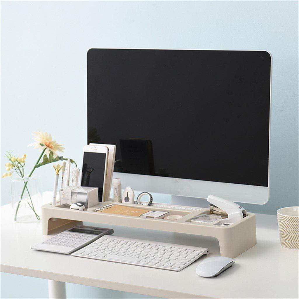 Menlang Organizzatore per scrivania,Scatola di finitura per computer Ufficio Organizer da scrivania,Ci sono molti piccoli vani di raccolta e una griglia per riporre piccoli oggetti beige
