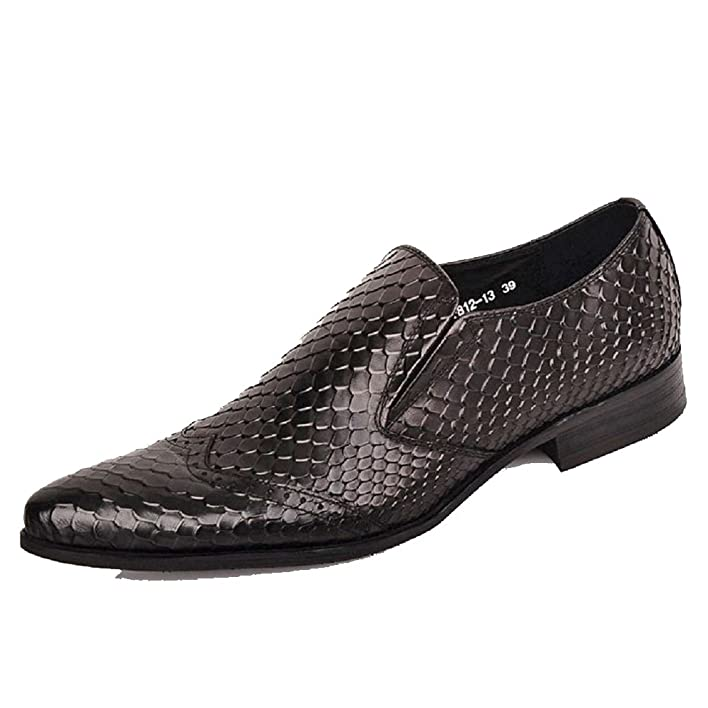 Black/Brown US Size 5-12 New Comfort Genuine Leather Mens Slip On Business Formal Dress Wedding Loafers Shoes