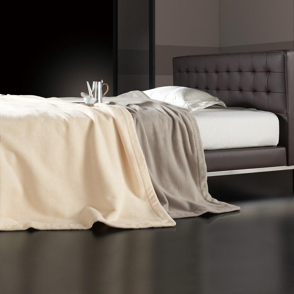 ダブル (【三井毛織】エジプト超長綿やわらか綿毛布 掛け毛布) 654704(サイズはありません ウ:アイボリー) B07MR4XWTP ウ:アイボリー