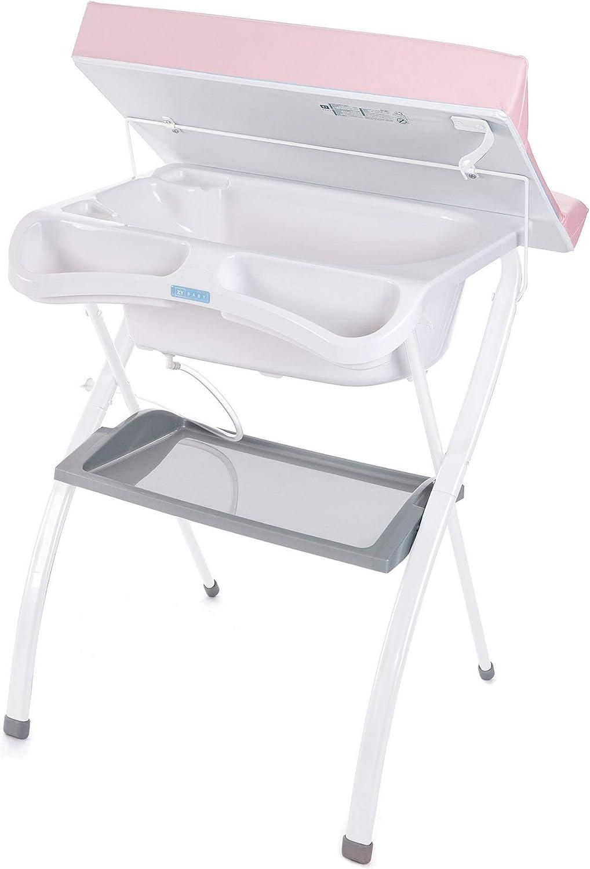 Gris Zippy asiento anat/ómico - Nuevo Modelo! Ba/ñera alta Spalsh ZY Baby ba/ño para bebes compacta con cambiador