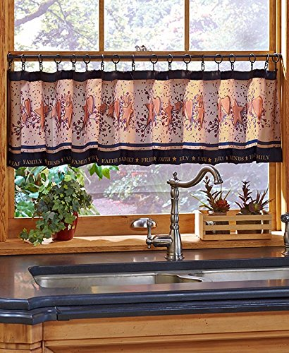 Country Kitchen Collection Window Valance and Hook